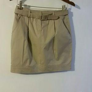 Wet Seal Jr khaki skirt sz S zip front NWT